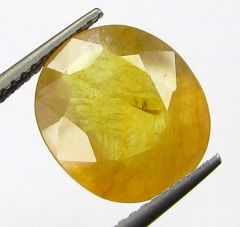 Lab Certified6.28cts Natural Yellow Sapphire/pukhraj
