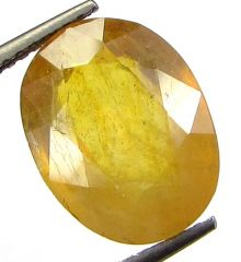 Lab Certified 6.13cts Natural Yellow Sapphire/pukhraj