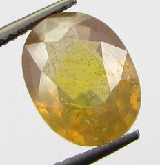 Lab Certified 4.35cts Natural Yellow Sapphire/pukhraj