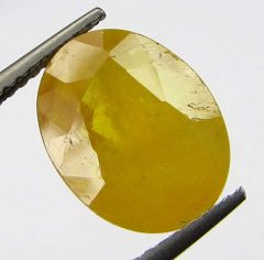 Lab Certified 6.65cts Natural Yellow Sapphire/pukhraj
