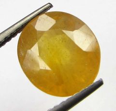 Lab Certified 4.46cts Natural Yellow Sapphire/pukhraj