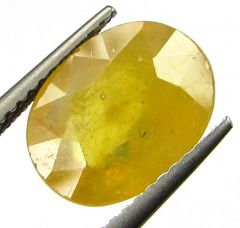 Lab Certified 5.07cts Natural Yellow Sapphire/pukhraj