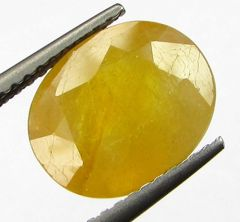 Lab Certified 5.23cts Natural Yellow Sapphire/pukhraj