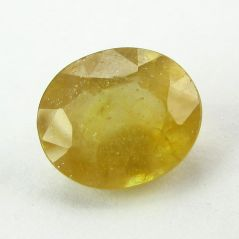 Lab Certified 5.44Cts Natural Yellow Sapphire/Pukhraj(Code - YS463)