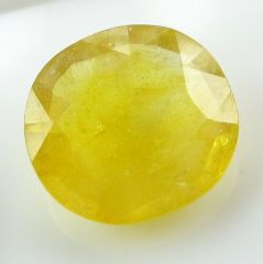 Lab Certified 5.55Cts Natural Yellow Sapphire/Pukhraj(Code - YS465