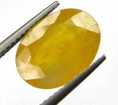 Lab Certified 6.11cts Natural Yellow Sapphire/pukhraj