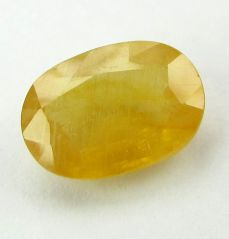 Lab Certified 5.01Cts Natural Yellow Sapphire/Pukhraj(Code - YS464)