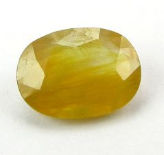 Lab Certified 7.34Cts Natural Yellow Sapphire/Pukhraj(Code - YS462)