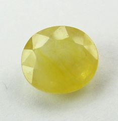 Lab Certified 5.39Cts Natural Yellow Sapphire/Pukhraj(Code - YS461)