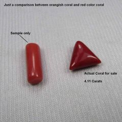 CERTIFIED TOP GRADE 4.11CT NATURAL UNTREATED DARK RED CORAL/MOONGA