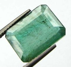CERTIFIED 6.24Cts 100% Transparent Zambian Emerald/Panna