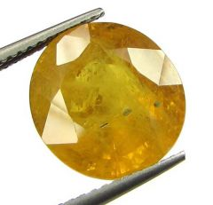 Lab Certified 8.63cts Natural Yellow Sapphire/pukhraj