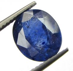 Certified 4.48cts Semi-Transparent Natural Blue Sapphire/neelam(for Shani)