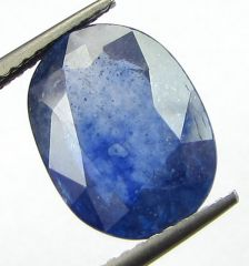 Lab Certified 5.84cts Transparent Natural Blue Sapphire/neelam(for Shani)