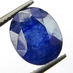 Certified 6.89cts Semi-Transparent Natural Blue Sapphire/neelam(for Shani)