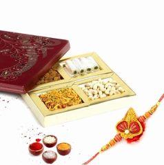 Punjabi Ghasitaram 2017 Rakhi Special Assorted Dryfruits Sweets and Farshan Box With Rakhi