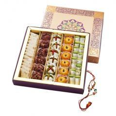 Punjabi Ghasitaram 2017 Rakhi Special Assorted Dryfruit sweet Box With Rakhi