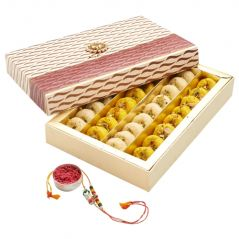 Punjabi Ghasitaram 2017 Rakhi Special Mix Mawa Peda sweet Box With Rakhi