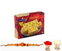 Punjabi Ghasitaram 2017 Rakhi Special Soan Papdi sweet Box With Rakhi