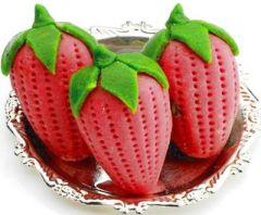 Mithais (Misc) - Ghasitaram Dryfruit Strawberry Mithai