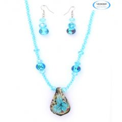 Vendee Fashion Eye-Catchy Crystal Pendant Set 5923