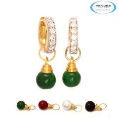 Vendee Fashion Multicolour Brass Earring 6833