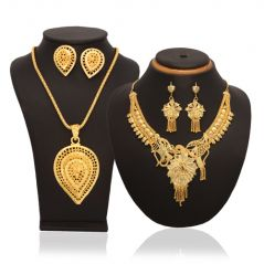 Shop or Gift Buy 1 Vendee Fashion Gold Plated Necklace Set & Get 1 Leaf Shape Necklace Set Free Online.