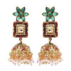 Vendee Fashion Dangler Jhumki Earrings 8079