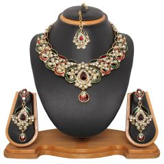 Vendee Fashion Grand Antique Meenakri Necklace Set (8316)