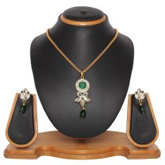 Vendee Fashion embellished pendant set (8363)
