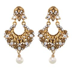 Vendee Fashion Golden Zinc Danglers (8384)