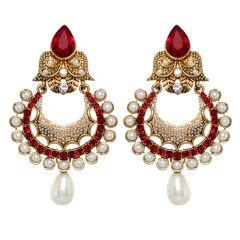 Vendee Fashion Pearl  Studded Earrings (8390)