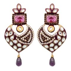 Vendee Fashion Wild Heart Dangler Earrings (8409)