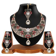 Vendee Fashion Choker Bridal Necklace Set (8505)
