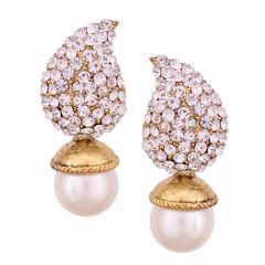 Vendee Fashion White Earrings Set 8522