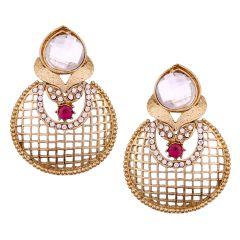 Vendee Fashion textured metal earrings (8530)