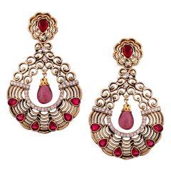 Vendee Fashion textured metal earrings (8531)