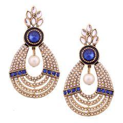 Vendee Fashion textured metal earrings (8532)