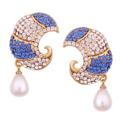 Vendee Fashion Carving Pearls drop Earrings (8577)