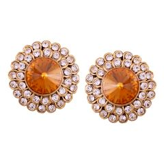 Vendee Fashion Round studd Earrings (8578)