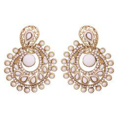 Vendee Elegent Fashion Whitish Dangle Alloy Zinc earrings for Women