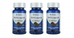 Zidaa Methi Capsule, Herbal Supplement, 60 Capsules Each, Pack of 3 (Code - Zidaa-MC-P3)