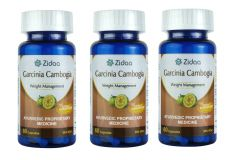 Zidaa Garcinia Cambogia Natural Weight Loss Supplement, 60 Capsules Each, Pack of 3 (Code - Zidaa-GC_P3)