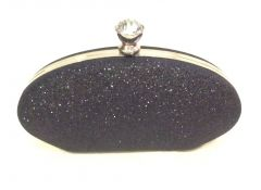 Black Toned Fancy Party Clutch with Sling Strap by Boga - (Code - Clutch-PPC15)