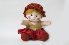 Baby Doll Girl  Sania  Golden/Red Color by Lovely Toys (Code - LTDSGR_02)