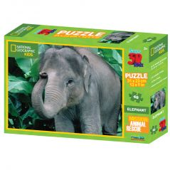 NAT GEO - ELEPHANT - 48 PC PUZZLE BY PRIME 3D (Code - P3D-10509)