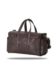 Brown Riveted Duffel Bag By Strutt (Code -SMD504)