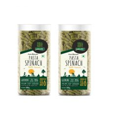 Spinach Gluten Free Pasta Pack of 2 - 200g Each - By NutraHi (Code - NHB01)