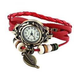 Anch Vintage Analog Watch - For Girls, Women Red
