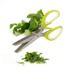 Home Basics Multifunction 5 Blades Scissors-vegetable Chopper-paper Shredder